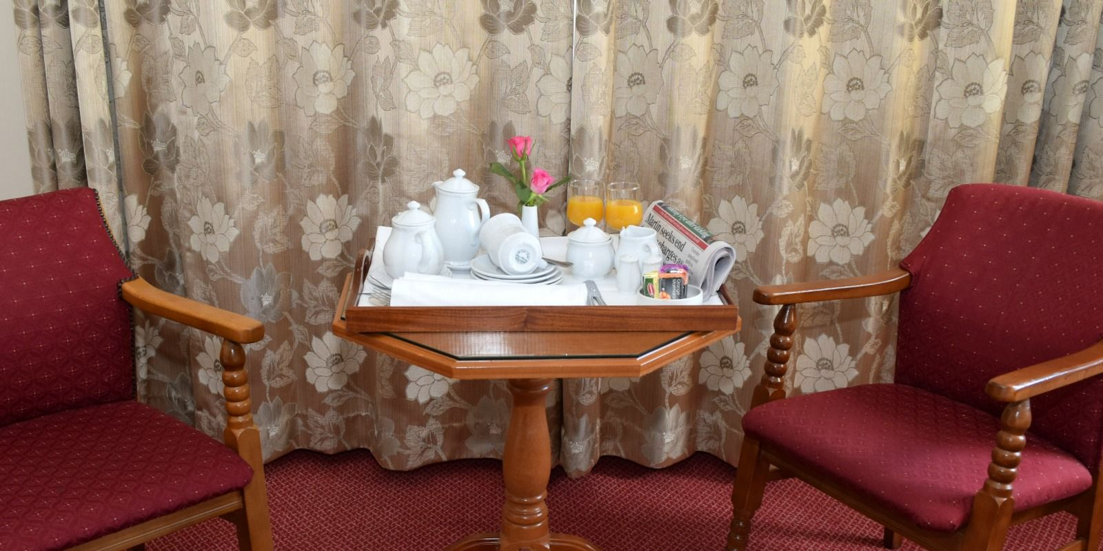 Room Service at the Rhu Glenn Hotel